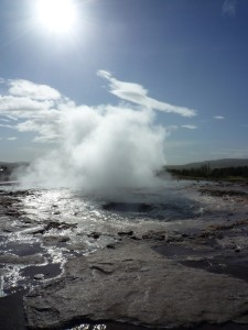 Geysir - surface geothermal activity.