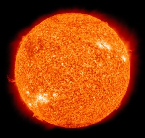 The Sun is by far the largest source of energy in our solar system. Click on image for full size.