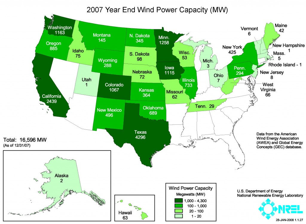US  wind energy data