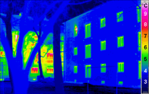 Passive house thermogram