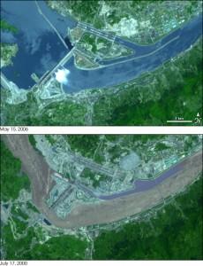 Three Gorges dam (NASA).