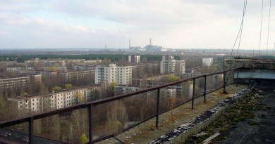 Ciew of Chernobyl taken from Pripyat